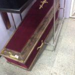 Гроб красный бархат
